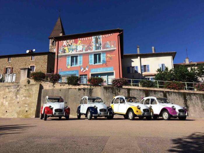 Activité séminaire Rallye 2CV Beaujolais